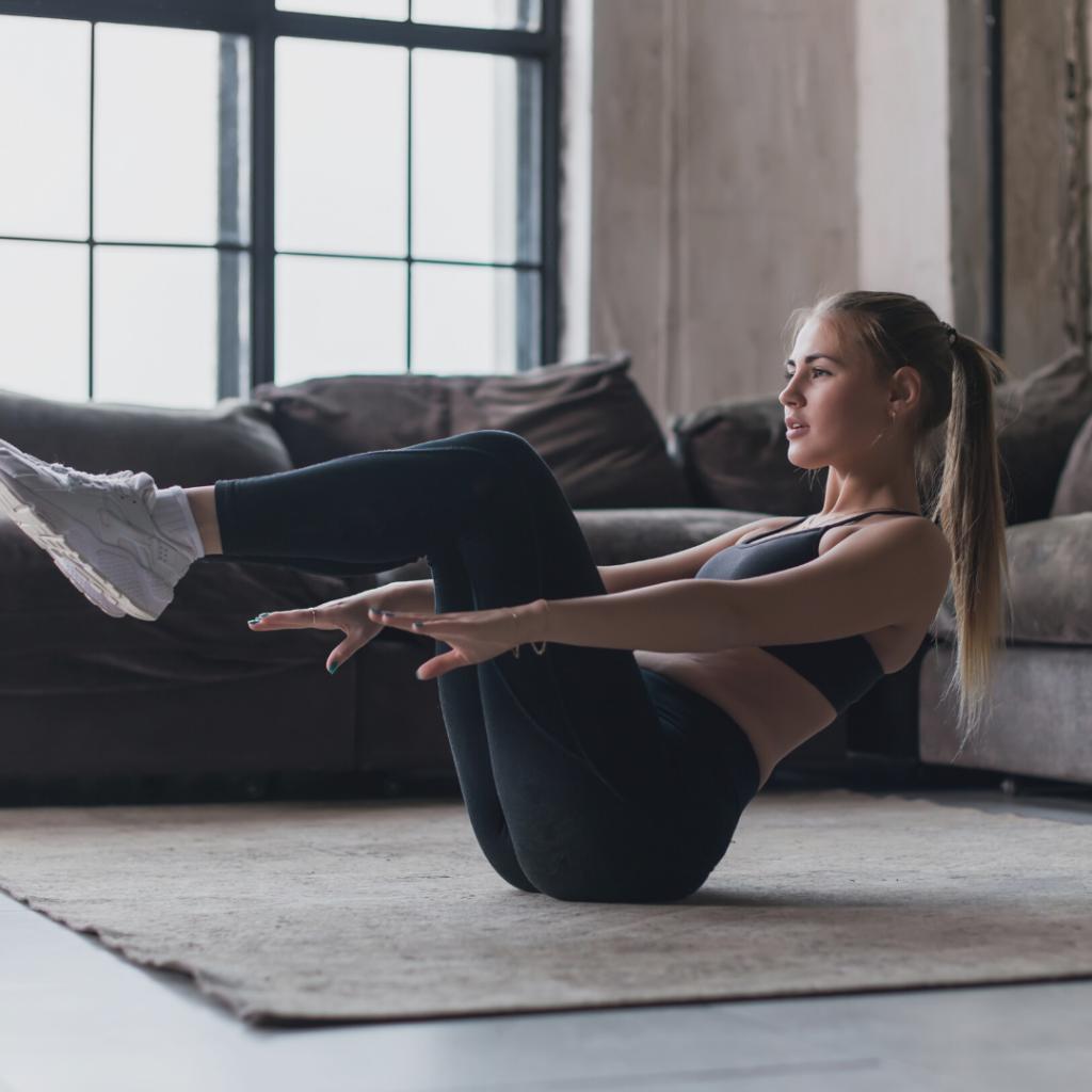 4 Bauchmuskelübungen für Frauen