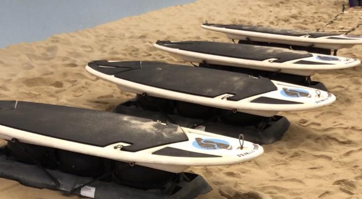 Surfen im Sand