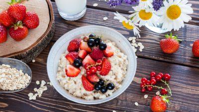 Gebackenes Porridge
